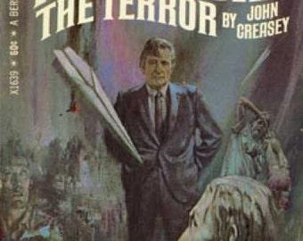 The Terror: A Dr. Palfrey Series Adventure Novel - by John Creasey - Vintage 1968 Edition Mystery Novel