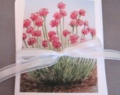 Wildflower California Watercolor card set of four woodland summer