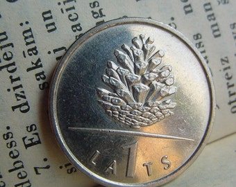 Christmas Ornaments -PINECONE -Coin for Luck -Jewelry Making - Scrapbooking - Original Presents - Supplies - Collectibles Coin - Numismatics