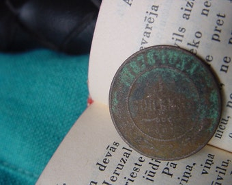 1878 ANTIQUE Old Imperial RUSSIA Copper Coin. - 1 Kopeyka, copeck, kopeck,  kopeck for collection, supply, jewelry