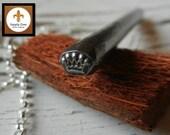 SALE - Design Stamp - Crown - Design Stamp for Hand Stamped Jewelry - Metal Design Stamp - DIY Jewelry Tool