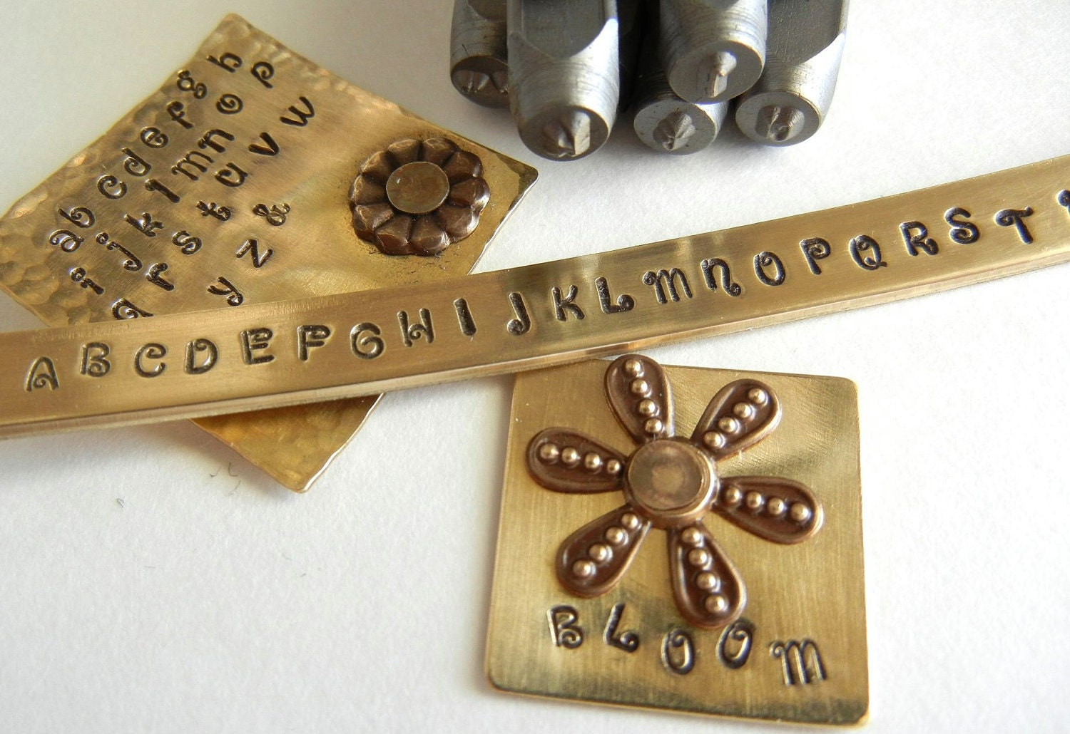 Metal stamping set 2mm uppercase verona font alphabet letter for Metal letter stamps for jewelry