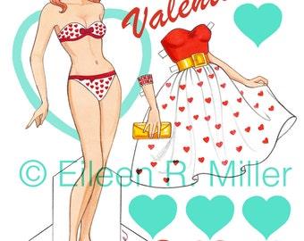 Valentine's Paper Doll
