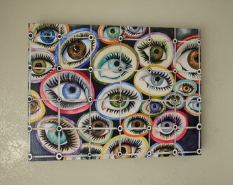 "Unique Watercolor Painting ""Eyes"" 18x24"