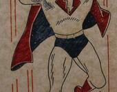 Vintage Super Hero Iron On