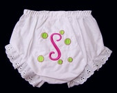 Baby Bloomers Personalized Monogrammed Name Initials
