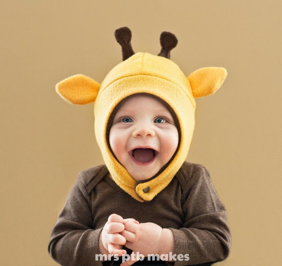 Giraffe Baby/Toddler Fleece Hat
