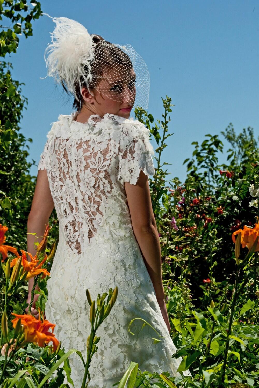 1930s Wedding Vintage Lace Wedding Dress Coat With Satin