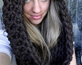 "PATTERN download PDF hooded cowl scarf ""Wrap Your Arms Around Me Cowl"""