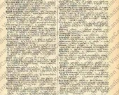 KISS Digital Vintage Dictionary Page KISS, Kind, Kindred INSTANT Download