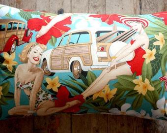 aloha pin up girl 35x55 lumber cushion