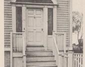 A Gardner Street Door, Nantucket post card. Gardiner black & white.