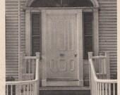 The Macy Door, Main Street Nantucket post card. Gardiner Black & white.