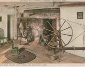 Jethro Coffin House 1686, Living Room, Nantucket postcard. Gardiner Nantuckrome