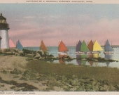 Rainbow Fleet, Nantucket postcard. Gardiner Nantuckrome