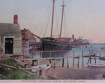 The Skipper From Easy Street, Nantucket Post Card, H. Marshall Gardiner.