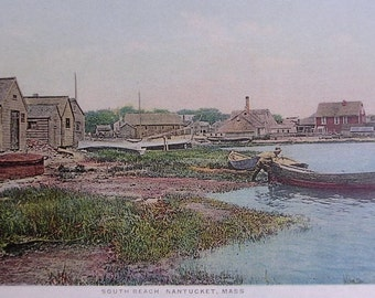 South Beach, Nantucket Post Card, H. Marshall Gardiner.