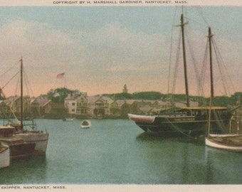 The Skipper, Nantucket postcard. Gardiner Nantuckrome