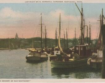 A Memory of Old Nantucket, Gardiner Nantuckrome post card.