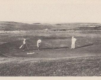 On the Golf Links, Nantucket post card. Gardiner black and white.