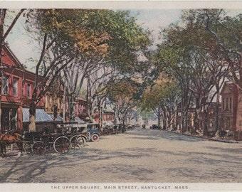 The Upper Square, Nantucket. Gardiner postcard, PHOSTINT