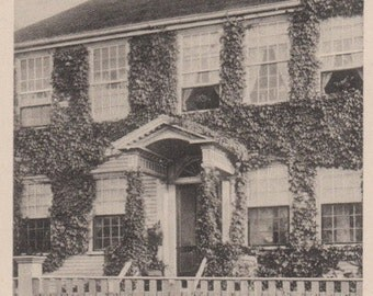 A Nantucket Doorway. Gardiner post card, black & white