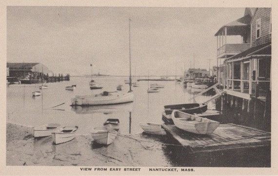View From Easy Street, Nantucket. Gardiner black & white.