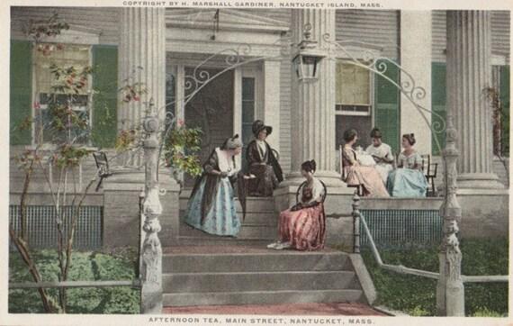 Afternoon Tea, Nantucket post card. Gardiner, PHOSTINT