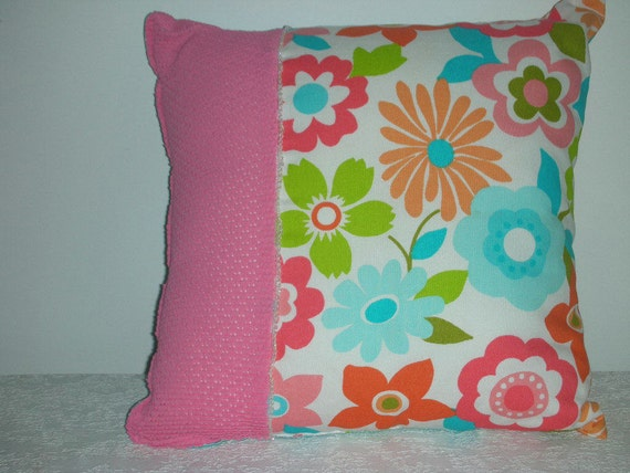 GREAT PILLOW SALE - Girls Decorative Accent Throw Pillow - Bold Flower Power