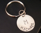 Initial and Name Keychain - Great for Guys