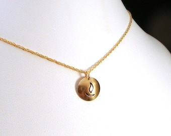 14k Gold Filled UU Chalice Necklace / Unitarian Universalist Gold Necklace