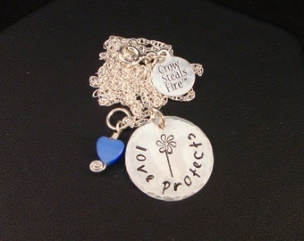 Love Protects Pinwheel Necklace in Sterling Silver