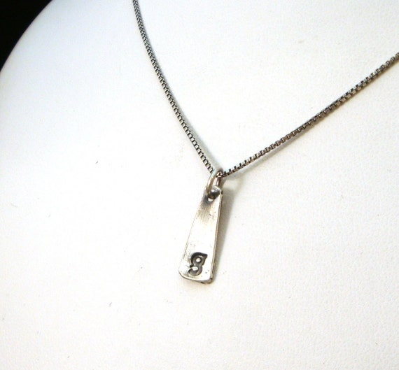 Items similar to fine silver initial pendant necklace for Lowercase letter necklace