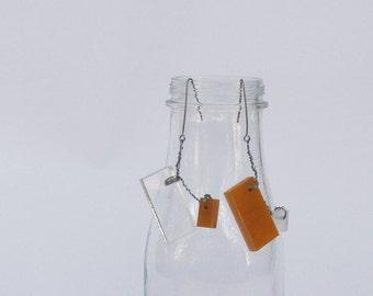 """Architectural Plexiglass Earrings """"Walker"""""""