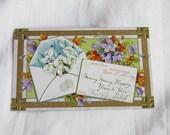 Envelope Bouquet 1911   Vintage Birthday Greetings Postcard