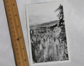 Needles View Near Tower Fall - Badlands - Photograph Postcard