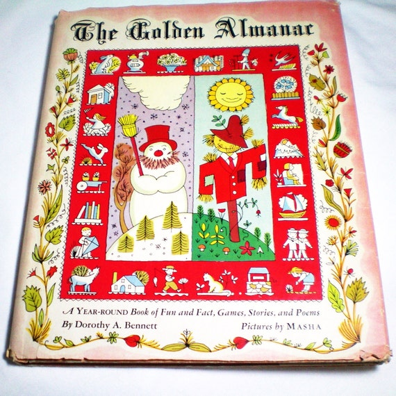 The Golden Almanac - Dorothy Bennett - Vintage Book
