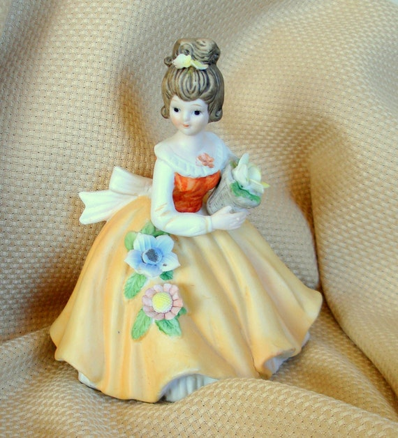 RESERVED For Peta Only ... Victorian Girl Figurine. Vintage. Porcelain. Hand Painted