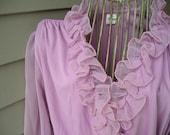 Dress Pink Vintage Ruffles