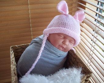 newborn photo prop, bunny newborn/ baby hat ,  photography props, newborn hat, newborn boy, newborn knit hat, newborn girl, baby bunny hat