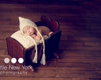Newborn photo prop, cream/ or grey or red mohair bonnet newborn/ baby hat. Newborn boy, newborn girl, newborn knit hat, newborn bonnet