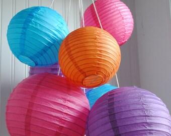 Customizable Paper Lantern Balloon Mobiles