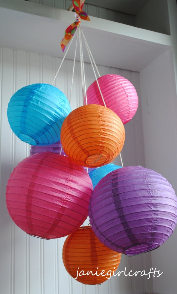 Customizable Paper Lantern Balloon Mobiles