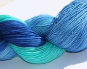 SALE Soft & Sturdy Sock- 100 grams Color- Ocean Waters  Hand Dyed Yarn