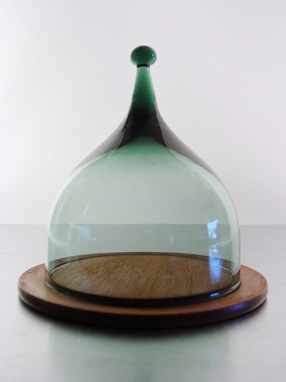 Glass Cheese Dome By Benny Motzfeldt For Hadeland Of Norway