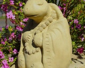 SMALL MEDITATING TURTLE Stone Garden Buddha Sculpture (o)