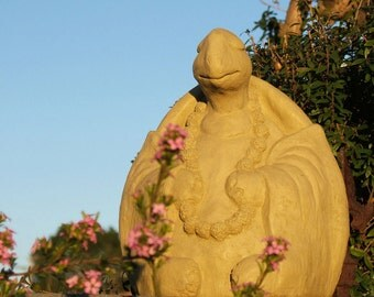 LARGE MEDITATING TURTLE - Solid Stone Sculpture - Original Artwork
