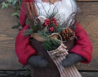Santa in Can E Pattern