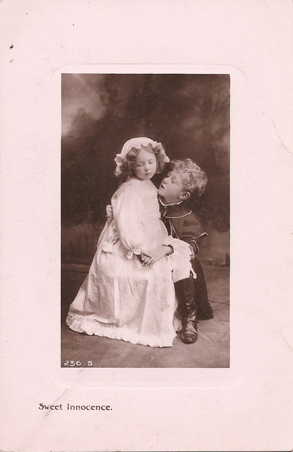 Romantic Young Couple Real Photo Vintage Postcard