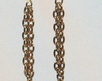 Elegant Bead and Chain Earrings